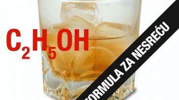 alkohol, formula za nesreću