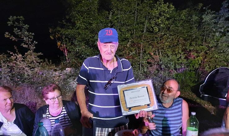 Ferucio Banić svira 70 godina u limenoj glazbi sveti lovreč plaketa